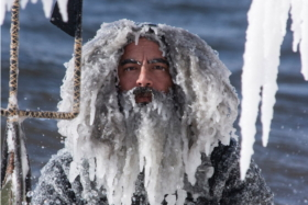 An Ice Beard surfer