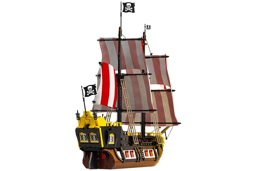 Lego Pirates of Barracuda back