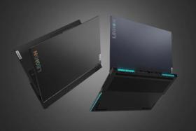 Lenovo Legion Laptop 7i beauty shots almost closed and full open back
