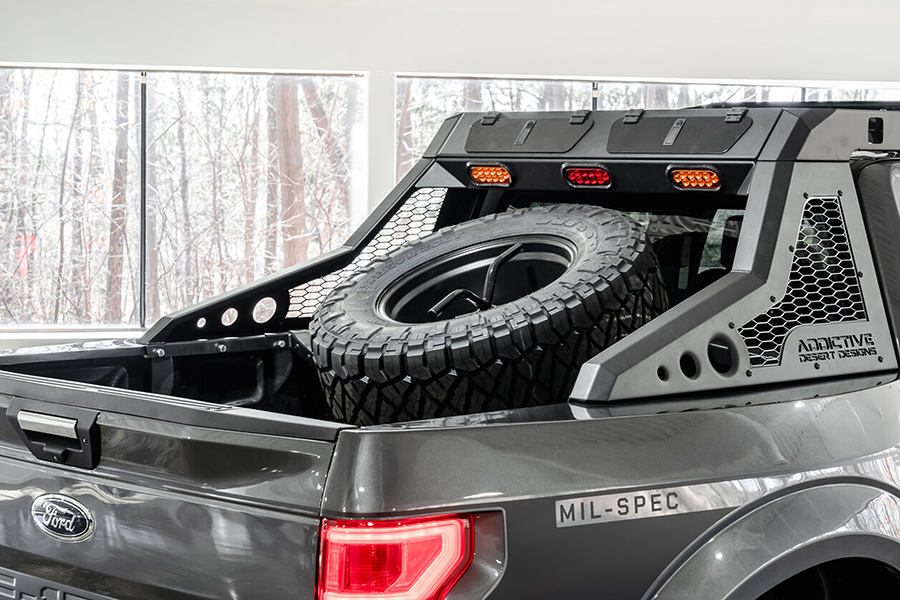 Ford F 150 Truck Mil Spec back compartment