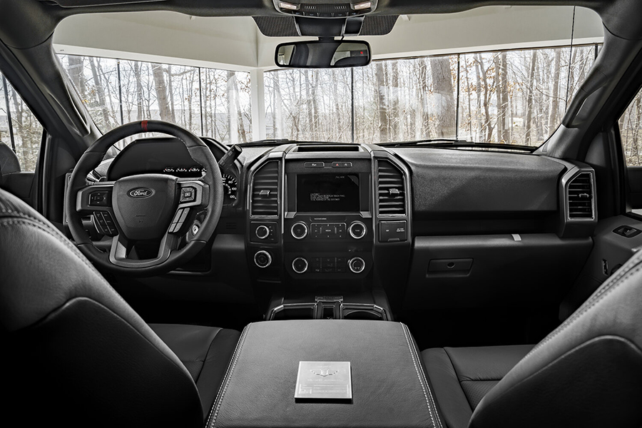 Ford F 150 Truck Mil Spec dashboard and steering wheel