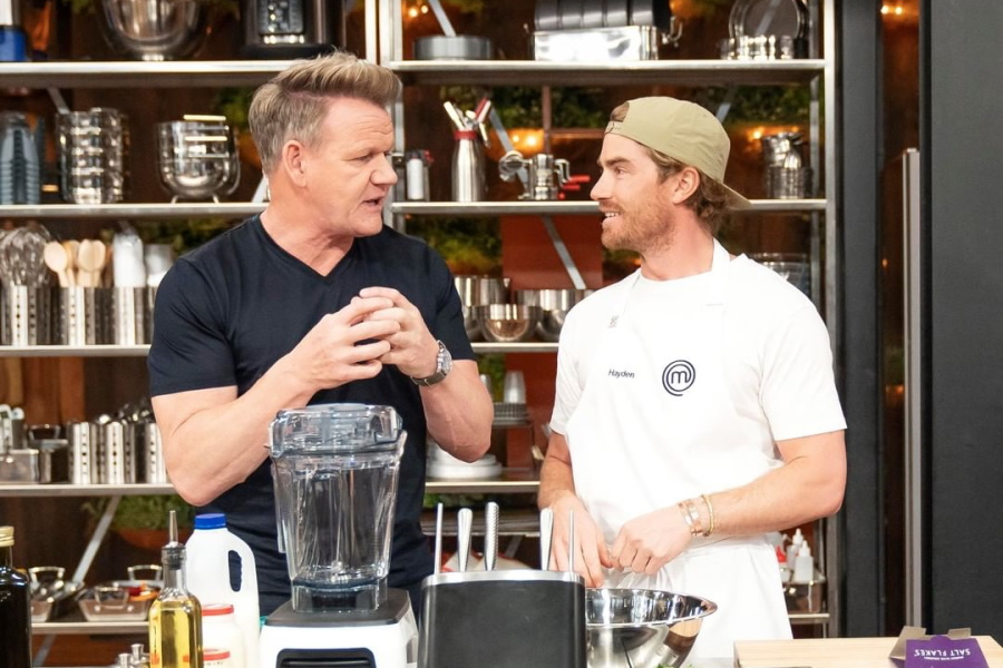 Gordon Ramsay at MasterChef Australia talking to a contestant