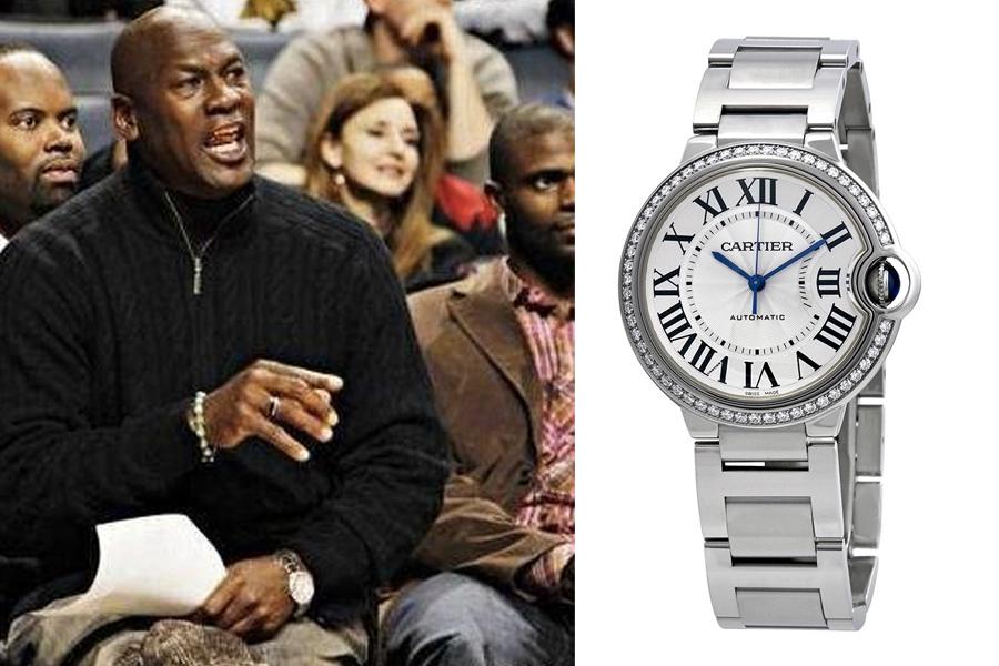 Michael Jordan Watch Collection - Cartier Ballon Bleu