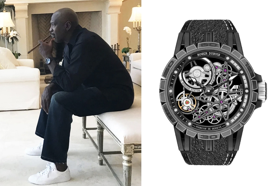 Michael Jordan Watch Collection - Roger Dubois Excalibur Spider Pirelli - Automatic skeleton