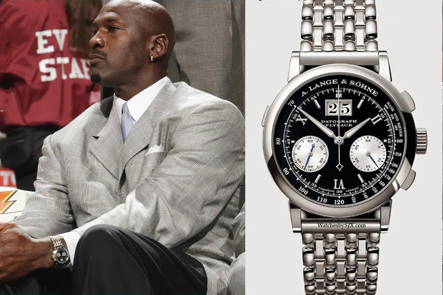 Michael Jordan Watch Collection - a Lange & Sohne Datograph