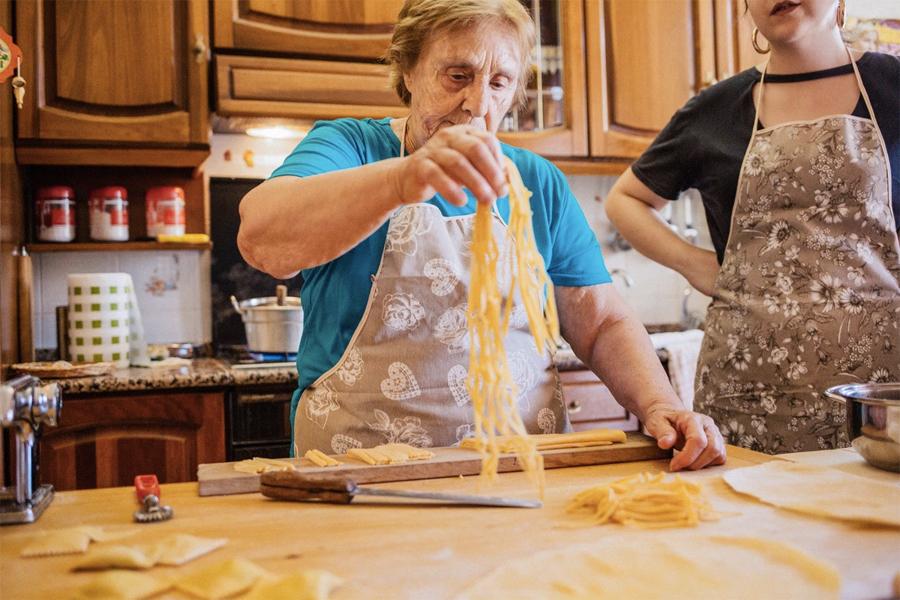 Nonna making pasta