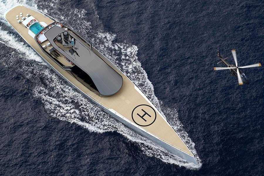 Red Yacht Design Ice Kite Superyacht