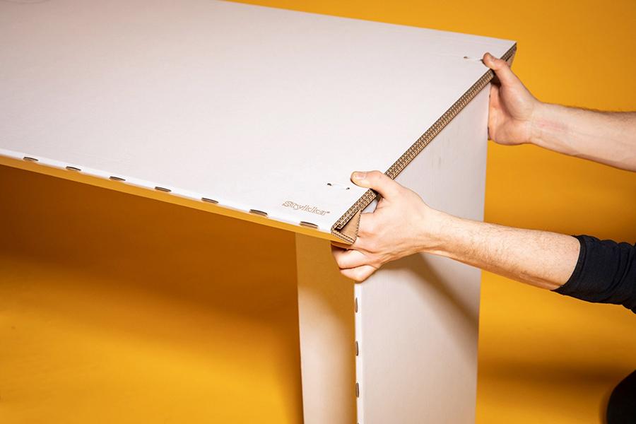 Home Cardboard Desk side