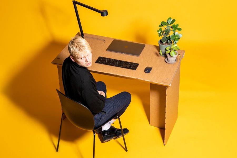 Stykka's StayTheF***Home Cardboard Desk is Perfect For the Home Office | Man of Many