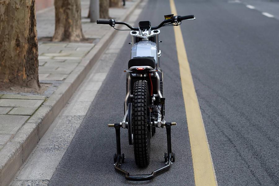 Switch Motorcycle eScrambler back view