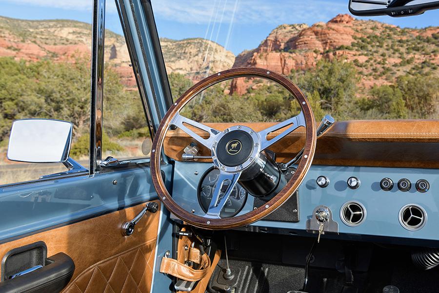 Custom Electric Ford Bronco steering wheel