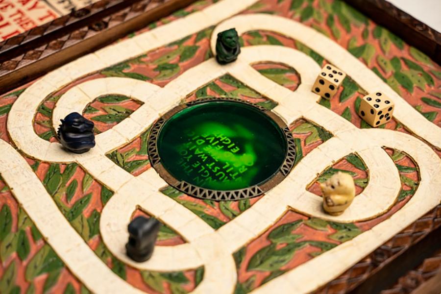 Jumanji top view board game