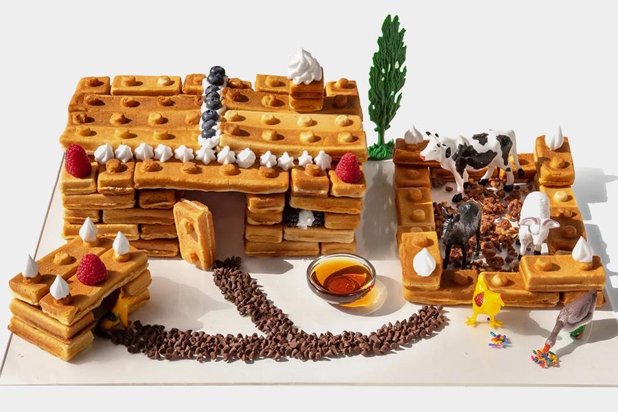 Building Brick Waffle design