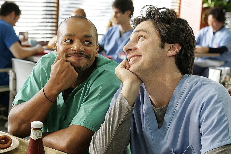 Zach Braff and Donald Faison launch Fake Doctors, Real Friends Scrubs podcast 1