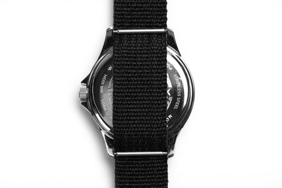 timex diver watch caseback