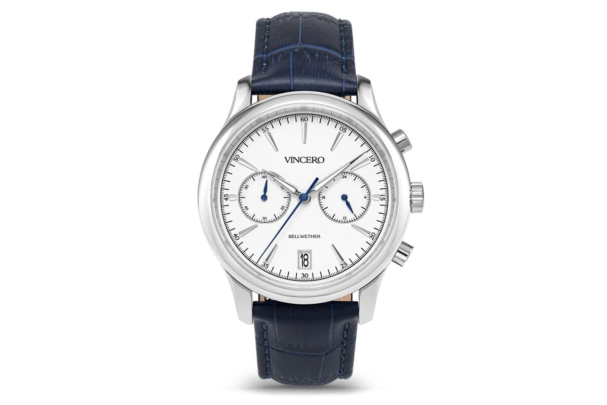 best vincero watches number 6 bellwether blue and silver