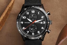 A Vincero watch dial closeup