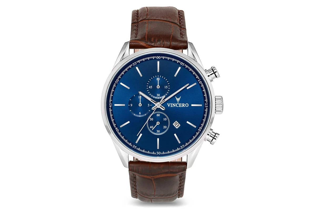 best vincero watches number 2 chrono s in blue brown