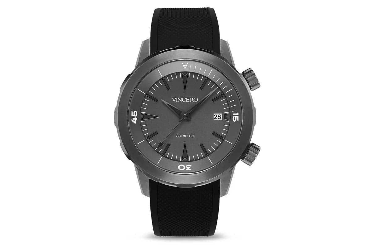 best vincero watches number 4 vessel silicone gunmetal
