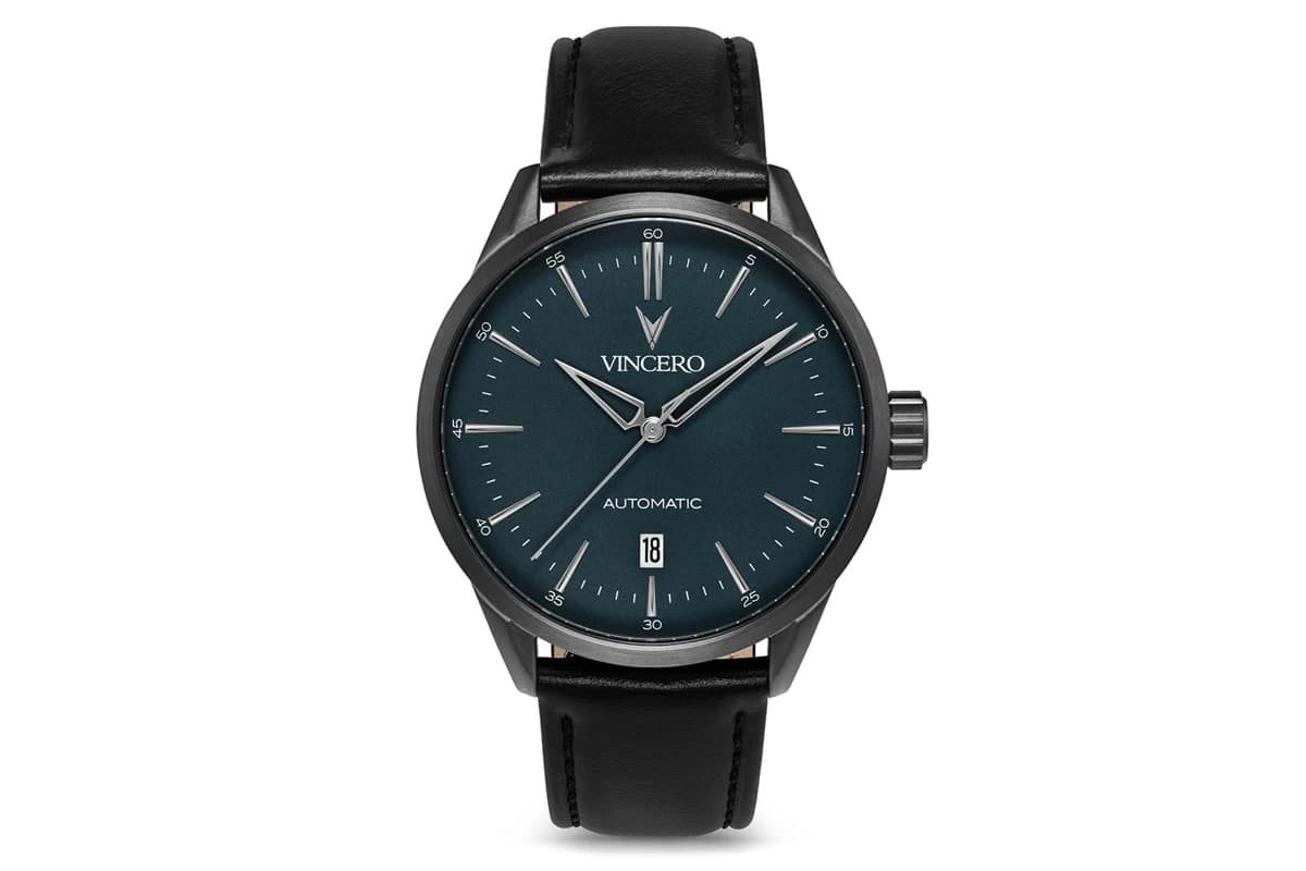best vincero watches number 8 icon automatic gunmetal and slate blue