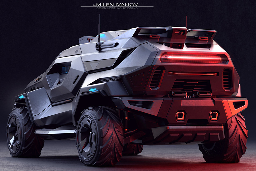 ArmorTruck Concept back