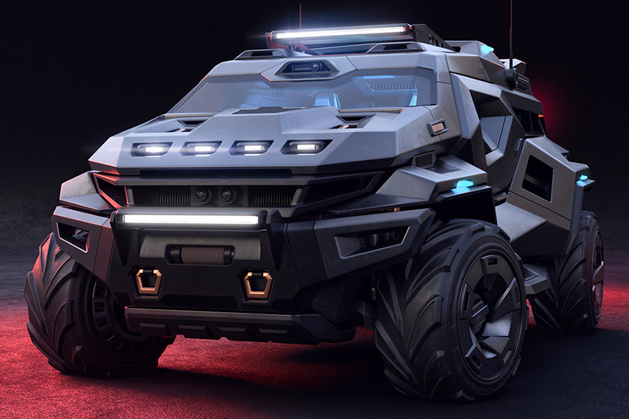 This ArmorTruck Concept is a Bulletproof Batmobile