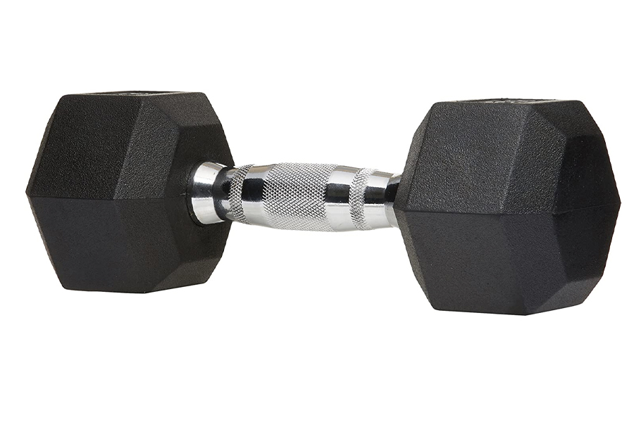Best Dumbbells for home workout - AmazonBasics Rubber Encased Hex Hand Dumbbell Weight