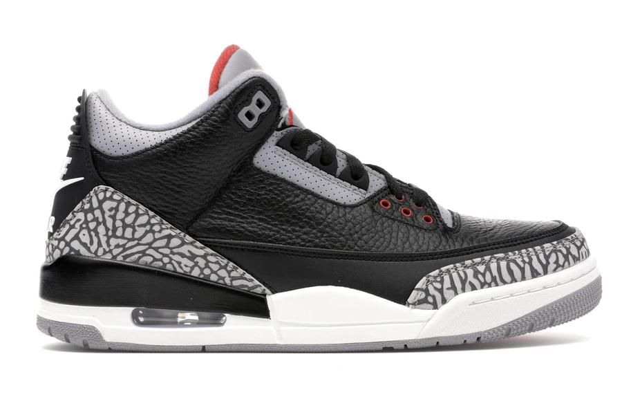 Best Jordans of all time - Air Jordan 3 Retro OG Black Cement