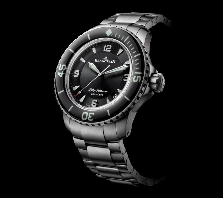 swiss made titanium divers watch