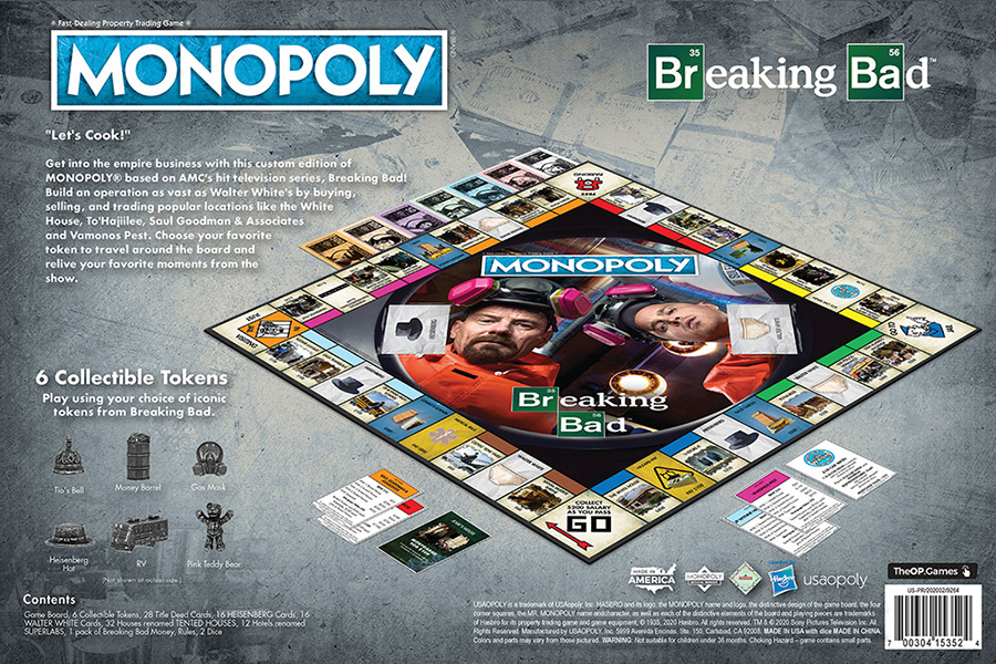Breaking Bad Monopoly back of the box