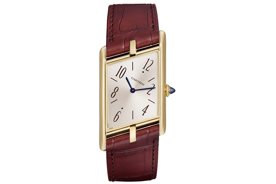 cartier asymetrique watch front view