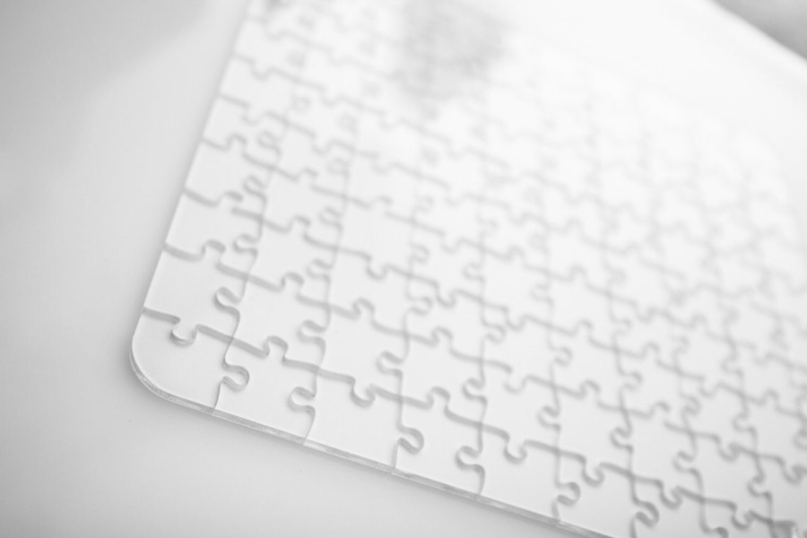 Clear Glass Jigsaw Puzzle