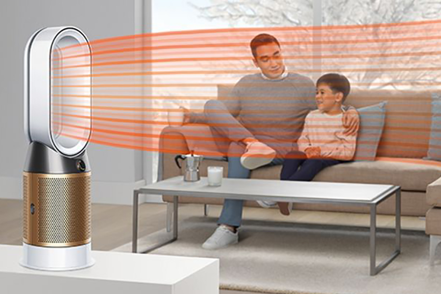 Dyson's New Air Purifier place in lounge area