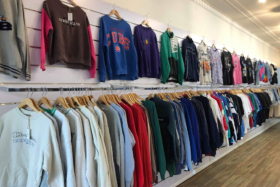 Clothes at a store