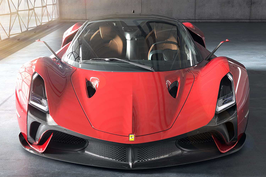 Futuristic Hypercar Concept front view