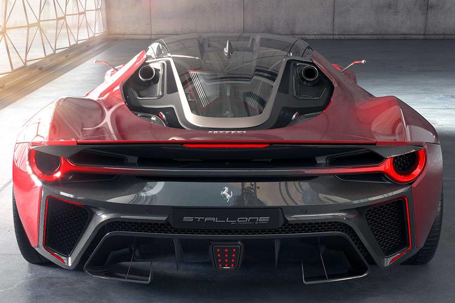 Futuristic Hypercar Concept back