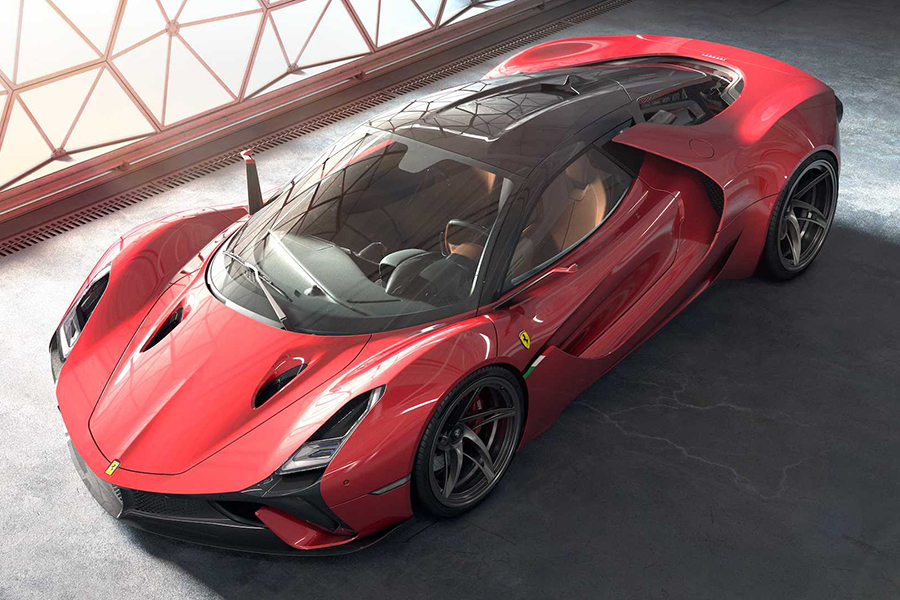 Futuristic Hypercar Concept Is The Turbo V12