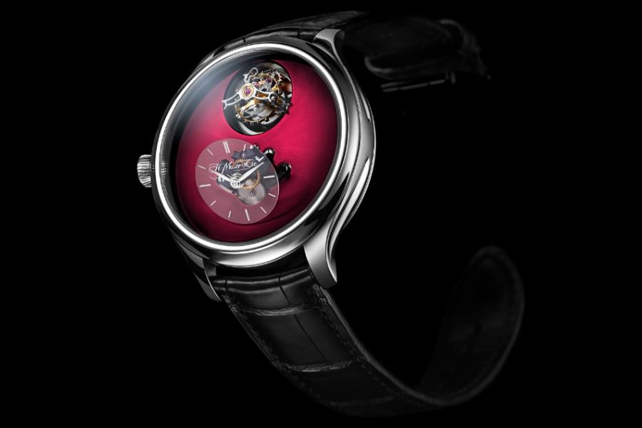 H. Moser flying tourbillon watch