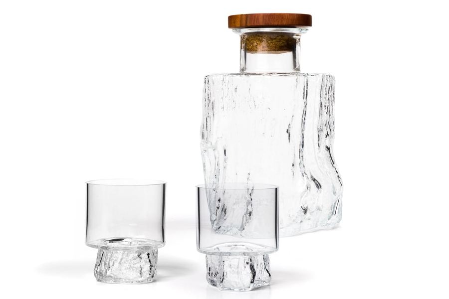 Vicara Handblown Carafe & Whiskey Glass Set