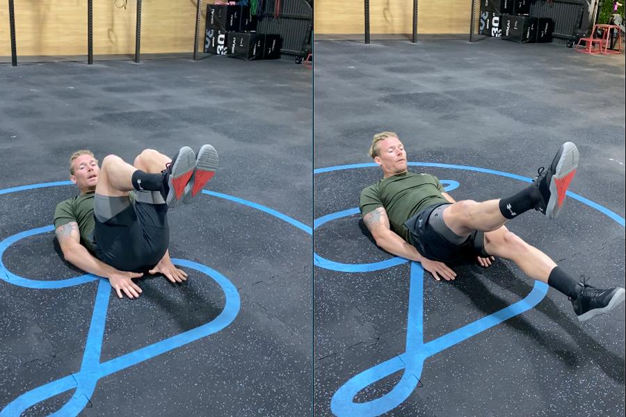 James Newbury home Workout - Hollow Body Flutter kicks