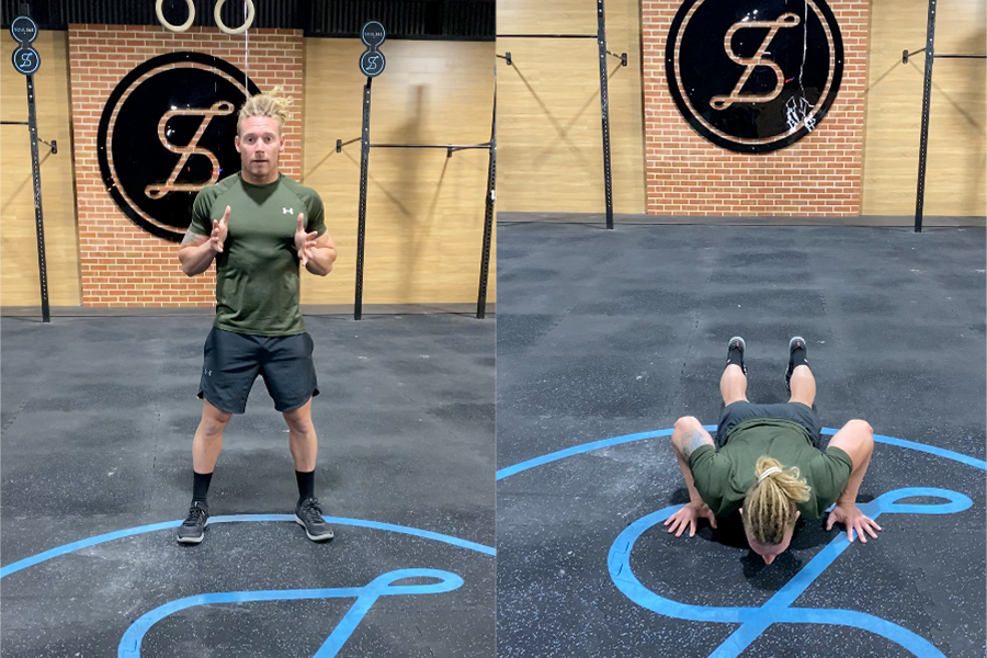 James Newbury home Workout - Line Facing Burpees