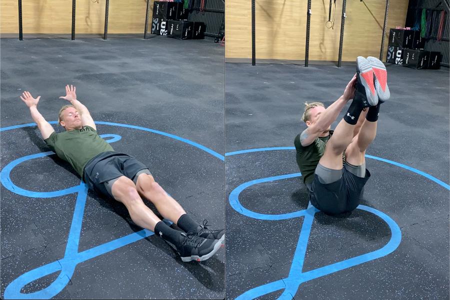James Newbury home Workout - V-Snaps