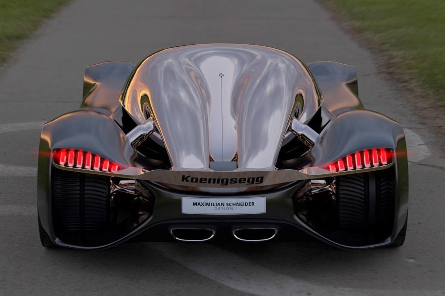 Koenigsegg Konigsei back view concept car