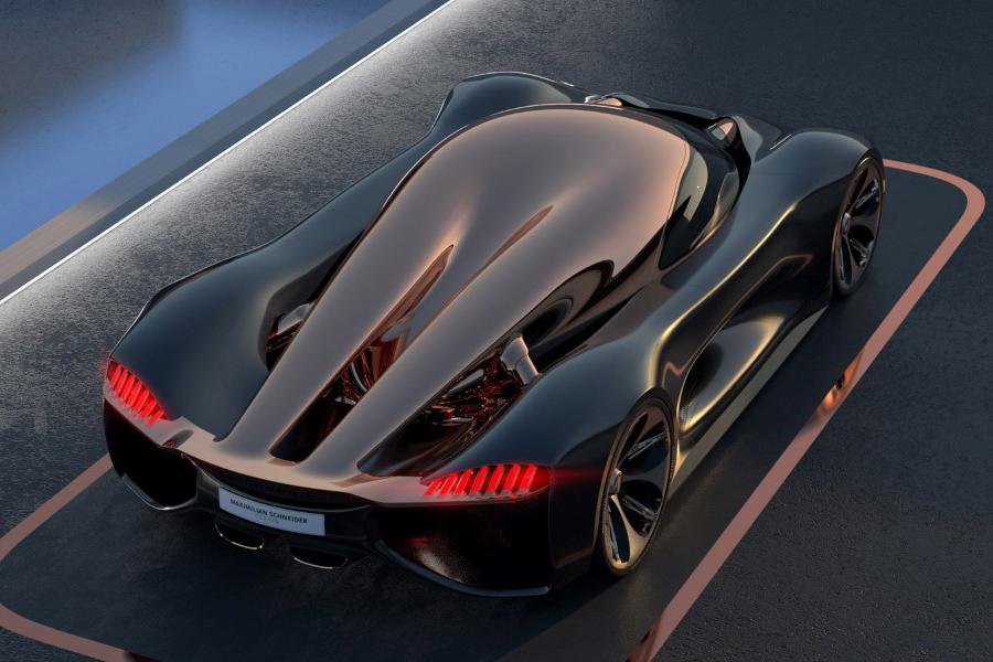 Koenigsegg Konigsei top view concept car