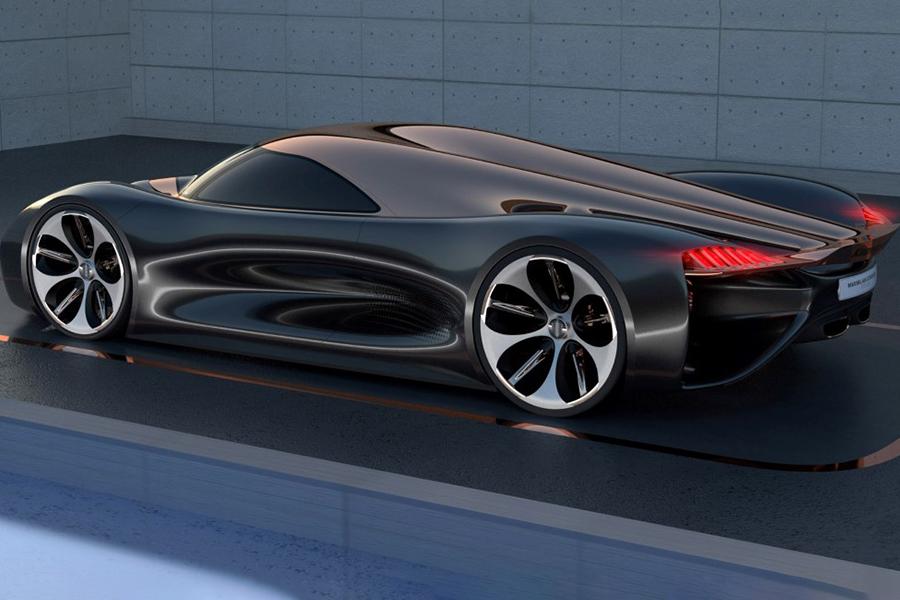 Koenigsegg Konigsei concept car on the road