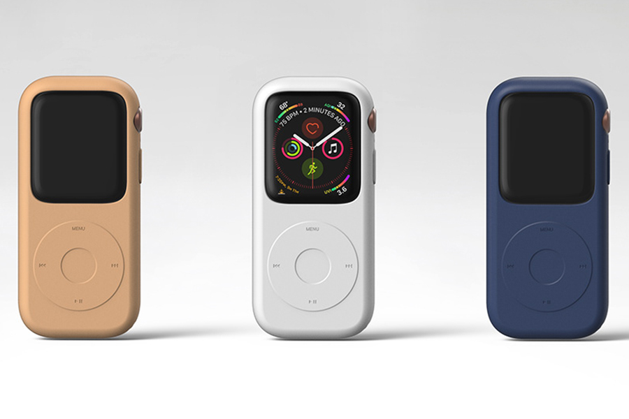 Pod Case for Apple Watch varies in color