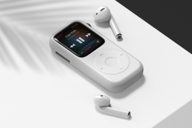 Pod Case for Apple Watch with earbuds