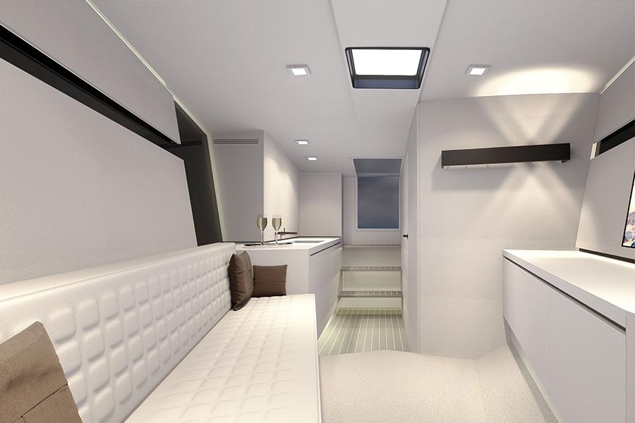 Van Dutch 40-2 lounge area