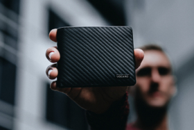 A man's holding VOCARO Classic Wallet