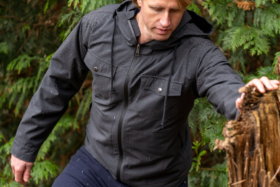 A man wearing Woolly NatureDry Jacket